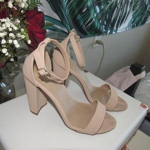 Tan Leather Heels from Charlotte Russe
